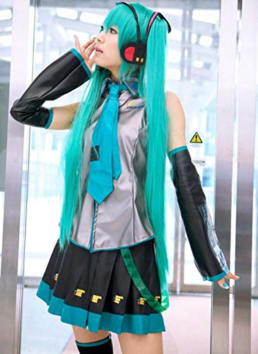 Renquen - Peluca para disfraz de cosplay Hatsune Miku para mujer, pelo para disfraz de anime