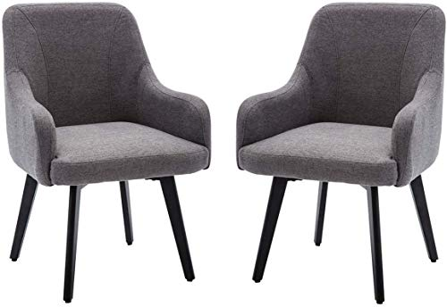 Mordern Accent Chairs for Living Room Chairs for Dining Room Accent Swivel Chair for Bedroom Arm Chair Set of 2