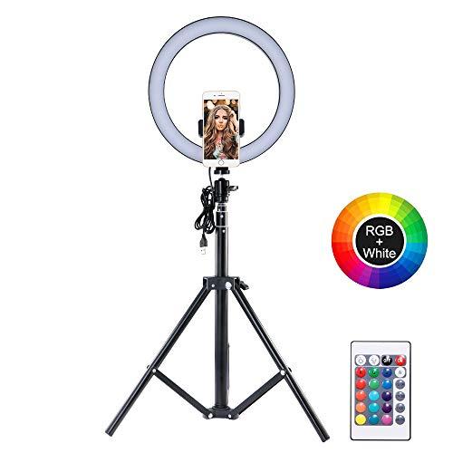 Lemonmax LED Luce ad Anello per selfie da 10,2', Flash Ring...