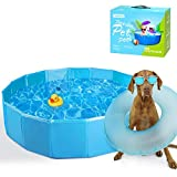 Nobleza - Hundepool Schwimmbecken Für große Hunde Faltbare Haustier Planschbecken Hundebadewanne Pool Für den Hund Katze Eco-Friendly PVC Swimmingpool 120cm
