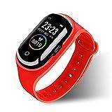 Yumanluo Smartwatch,Reloj de Control de la Salud, Pulsera Deportiva con Auricular Bluetooth-Rojo,Reloj Inteligente con Pulsómetro