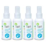 Antibacterial Alcohol Free Hand Sanitizer, Natural Thyme Scent, Mini Spray Moisturizing Essential Oil, Personal Travel Pocket Size 2.02 Oz Kid Friendly, Plant-Based, Portable Pump Bottle 4 Pack Bulk
