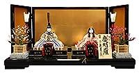 雛人形 久月 ひな人形 雛 木目込人形飾り 平飾り 親王飾り 真多呂作 慶明雛 正絹 本金 伝統的工芸品 h033-k-92911 K-42