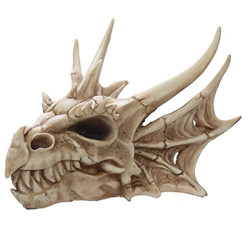 Puckator - Figura Decorativa de Calavera de dragón, Resina Artificial, Color Mezclado, 16,5 cm de Altura x 22,5 cm de Ancho x 25 cm de Profundidad