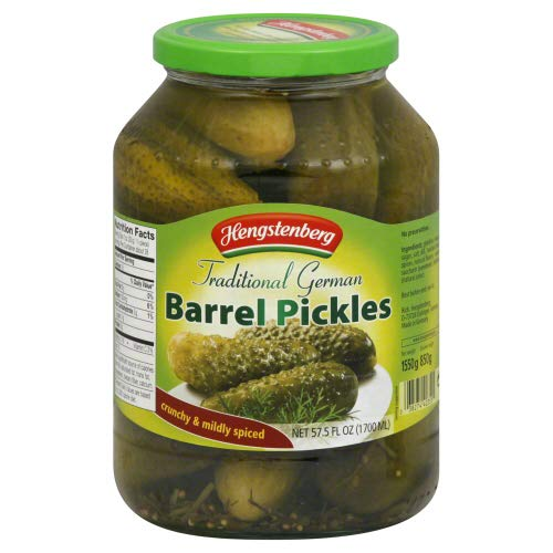 Hengstenberg Traditional German Barrel Pickles 57.5 (Pack of 2)
