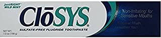 CloSYS Sulfate-Free Fluoride Toothpaste, Mild Mint, 7 Ounce (Pack of 2)