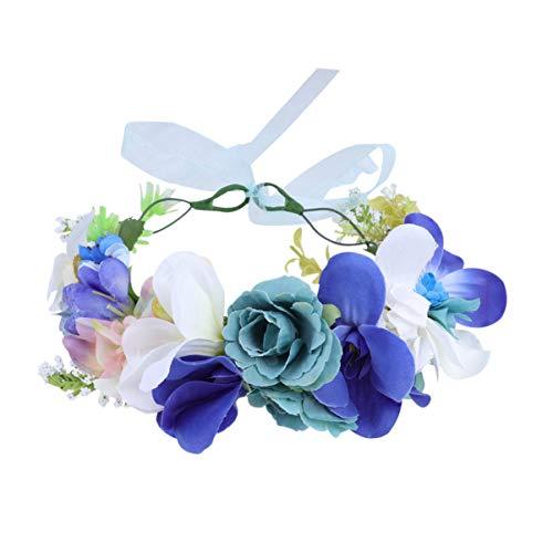 Lurrose Diadema de Corona de Flores Ajustable Corona de Guirnalda Floral Tocado...