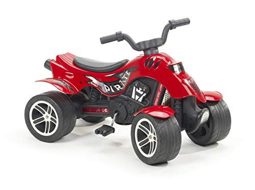 Falk 600 Pirate - Moto Infantil de 4 Ruedas, Color Rojo