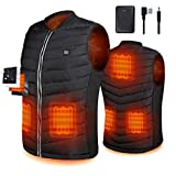 Srivb Heated Vest, USB Charging Lightweight Heating Vest for Men Women Washable Body Warmer with Battery Pack Included for Outdoor Hunting Hiking Camping Motorcycle Skiing (Medium)