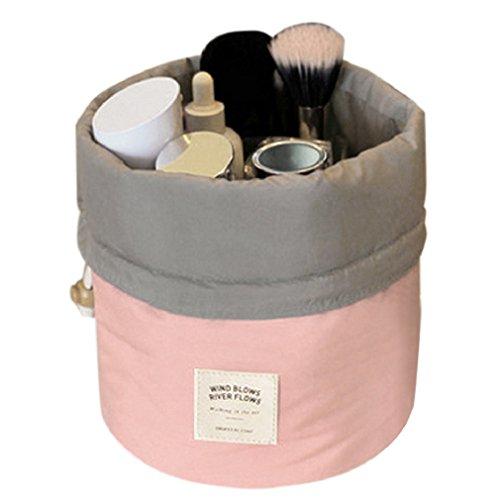 Snner Runden Kulturbeutel Kordelzug Waschbeutel Make up kosmetische Reisetaschen Wash Bag Rosa