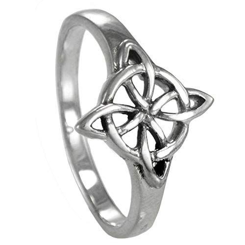 Sterling Silver Celtic Quaternary Wiccan Witches Knot Ring Size 15