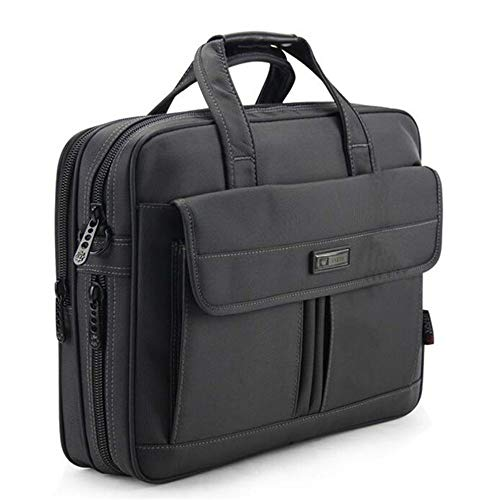 YOUZHA Aktentasche Aktentasche der Qualitäts-Männer wasserdichte Oxford-Reise-Geschäftsreise-Beutel-Luxusmann-Handtasche 15.6 Zoll-Rechtsanwalt-Laptop-Beutel, schwarz, 39 * 29.5 * 12CM