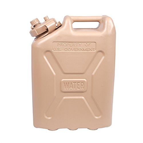 LCI Plastic Water Can, Desert Sand, 5-gallon