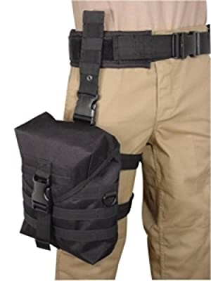 Voodoo Tactical Large MOLLE Drop Leg Gas Mask Pouch from Voodoo Tactical