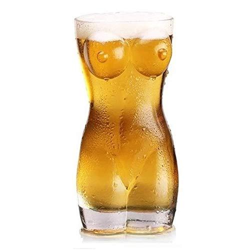 YYSLT Bierkrug, Sexy Bierglas Frauenkörper, Party Traumkörper, Frauentorso Glas mit Rundungen