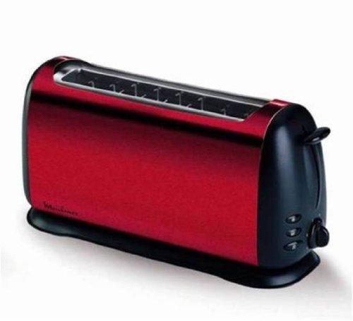 Moulinex Subito Winered, Negro, Rojo - Tostadora