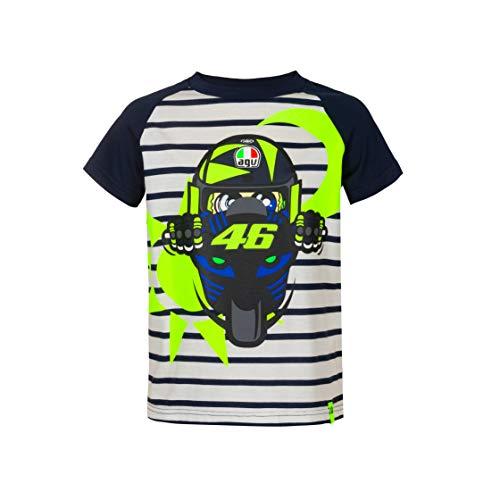 Valentino Rossi VR46 Classic Schwarz, T-Shirt, TSHIRTVR46CBM, Mehrfarbig, 12-14