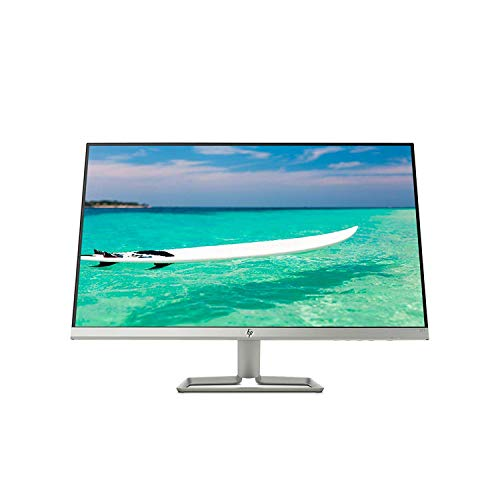 "HP Newest 27"" Widescreen IPS LED Full HD (1920x1080) Monitor, 5ms Response Time, 10,000,000:1 Contrast Ratio, FreeSync, 2X HDMI and 1x VGA Input, 178° View Angle, 75Hz Refresh Rate, Natural Silver"