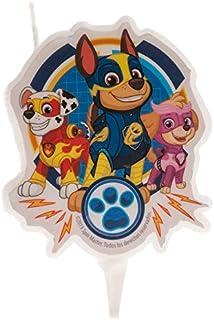 Dekora-346226 Chase, Skye, Marshall Vela de Cumpleaños en 2D de La Patrulla Canina, color azul (346226)