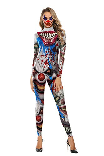 U LOOK UGLY TODAY - Costume da Donna Sexy, Aderente Clown L-XL