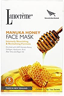 Lanocreme Manuka Honey Intensely Nourishing & Revitalising Formula Face Mask 5 pc