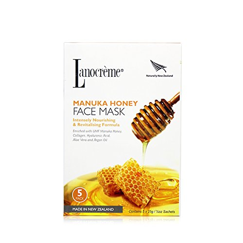 Lanocreme Manuka Honey Intensely Nourishing & Revitalising Formula Face Mask 5 pc by Lanocreme