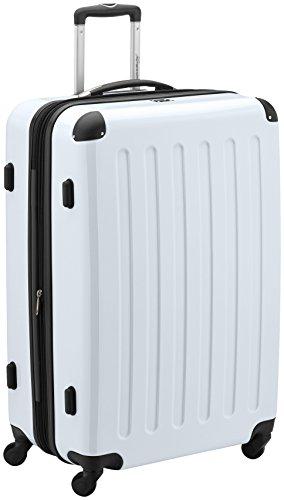 HAUPTSTADTKOFFER - Alex - Hartschalen-Koffer Koffer Trolley Rollkoffer Reisekoffer Erweiterbar, 4 Rollen, TSA, 75 cm, 119 Liter, Weiß