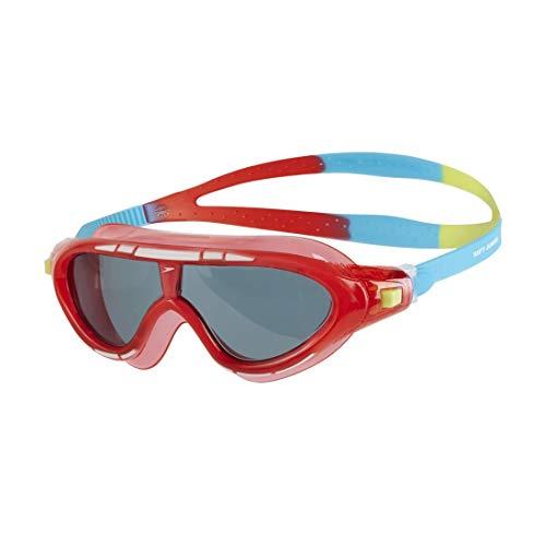 Speedo Biofuse Rift Gafas de Natación, Unisex niños, Rojo Lava/Azul japón/Humo, Talla Única