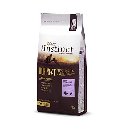 True Instinct High Meat Adult - Nature's Variety - Croquettes pour Chat Adulte avec Dinde Désossée - 7kg