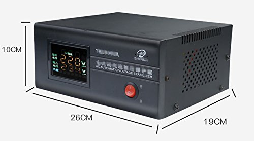 AC Automatic Voltage stabilizer,1500 Watt Best International Power Voltage Converter Transformer Input 90-270VAC Output 220VAC+_8% with Worldwide UK/AU/EU European Plug Adapter,Regulated Power s