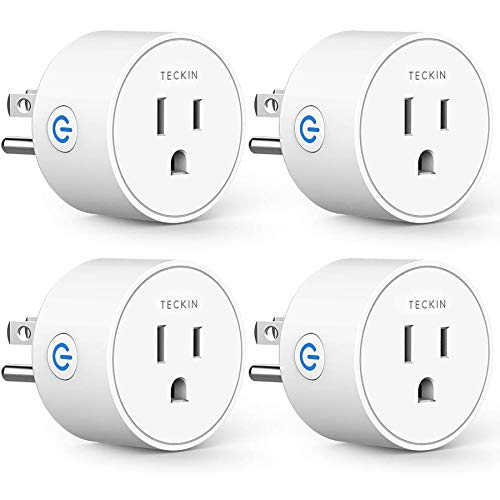 Smart Plug Compatible with Alexa Google Assistant for Voice Control, Teckin Mini Smart Outlet Wifi...
