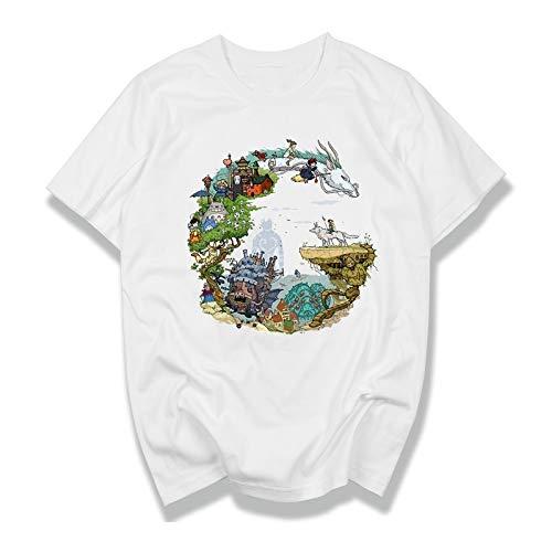 HNOSD Studio Ghibli Miyazaki Hayao Anime Spirit weg Masker Geen Gezicht Bank Totoro Cartoon Mannen Vrouwen Kleding Zomer T-Shirt Draak