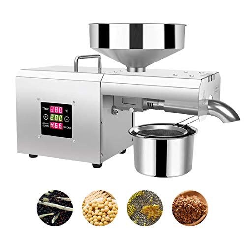 Automatic LCD Touch Screen Intelligent Control Panel Oil Press Household FLaxseed Oil Extractor Peanut Oil Press Cold Press Oil Machine 610W