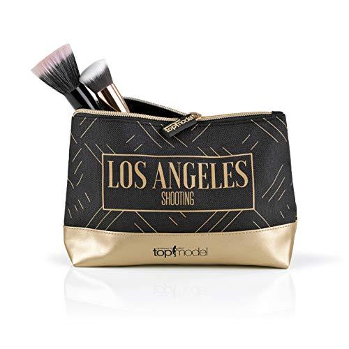 Germany's Next Topmodel make-up tas dames | make-up tas in lederlook voor praktische opslag | toilettas met robuust materiaal voor make-up en cosmetica [katoen, kunstleer]