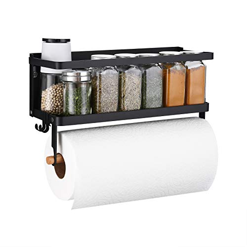 Amazon Brand - Umi Magnetic Spice Rack Organiser with Kitchen Roll Holder...