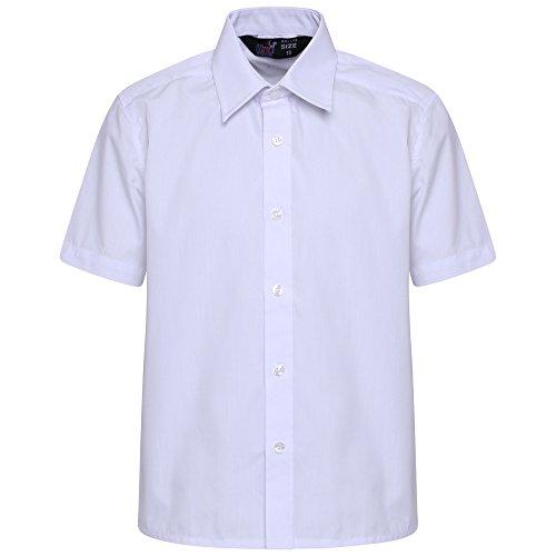 clicktostyle Kinder Mädchen Damen Polycotton Schule Weiß Kurzarm Schuluniform Shirt...