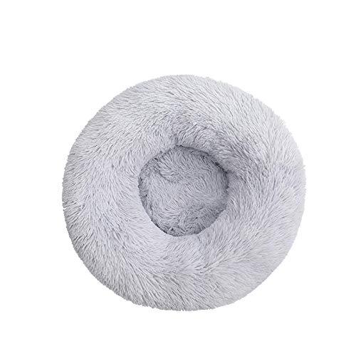 #N/D Cama para perro cómoda para mascotas con forma de donut redonda, ultrasuave, lavable, cojín para perro y gato, sofá cálido de invierno, G-XXL, 80 cm