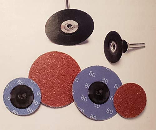 Buy Random Products Inc 2 Inch 120 Grit Premium Aluminum Oxide Type R Quick Change Discs Plastic But...