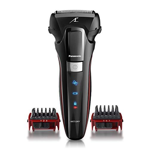 Panasonic Hybrid Wet Dry Shaver, Trimmer & Detailer with Two Adjustable Trim Attachments, Pop-up Precision Detail Trimmer & Shave Sensor Technology, Cordless Razor for Men, ES-LL41-K, Black