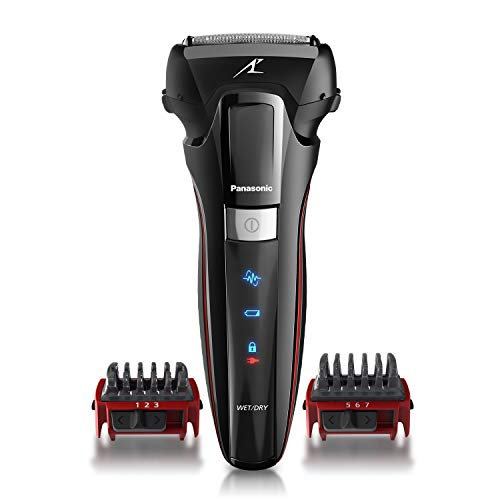 Panasonic Hybrid Wet Dry Shaver, Trimmer & Detailer with Two Adjustable Trim Attachments, Pop-up Precision Detail Trimmer & Shave Sensor Technology, Cordless Razor for Men, ES-LL41-K, Black