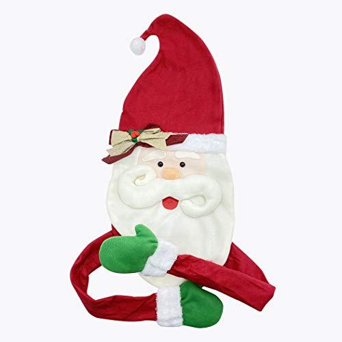 Mediawave Store - Puntale per Albero di Natale 6145018 Forma della Faccia Babbo Natale con Mani, Faccia di Babbo Natale, Puntale per Albero, Addobbo Natalizio, Decorazioni di Natale per Albero