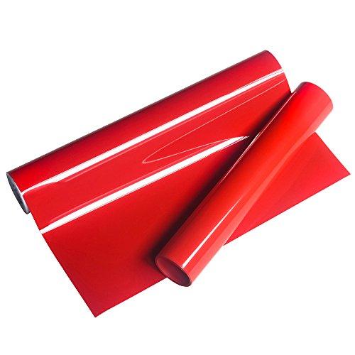 VINYL FROSCH HTV 25x155cm PU rote Wärmeübertragung Vinyl Roll für T-Shirts, Kleider Taschen und andere Stoffe