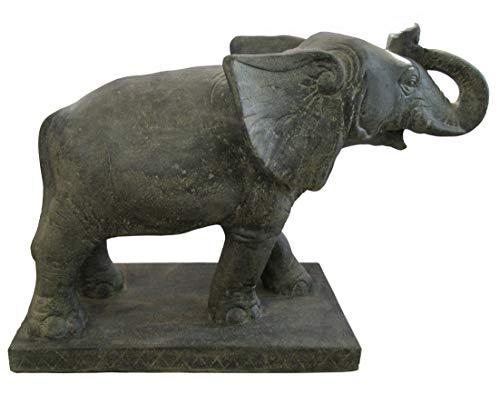 STONE art & more Elefant auf Sockel, Wasserspiel, H 75 cm, Steinfigur, Steinguss, frostfest