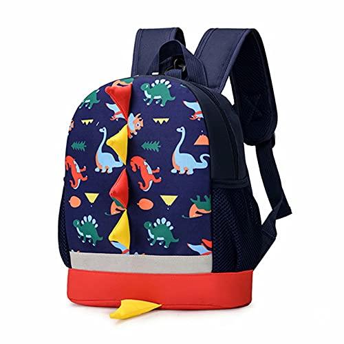 Mochila Infantil Dinosaurio Mochilas Escolares Niños Pequeños Guardería Mochila Preescolar 1-6 Años Grand Azul oscuro
