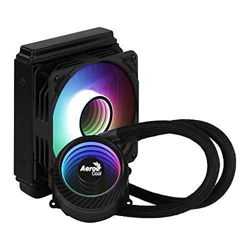 Aerocool MIRAGEL120, Refrigeración Líquida CPU, Ventilador 120mm ARGB, TDP 200W, Negro