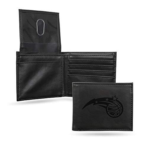 Rico Industries NBA Orlando Magic Laser Engraved Billfold Wallet, Black