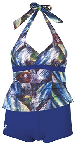Beco Damen Tankini C-Cup Power of Nature Schwimmkleidung, Blau-Bunt, 38