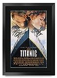 HWC Trading Titanic A3 Gerahmte Signiert Gedruckt