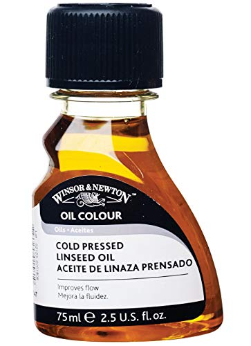 Winsor and Newton Oil Colour Cold Pressed Linseed Oil 75ml (Bttl)