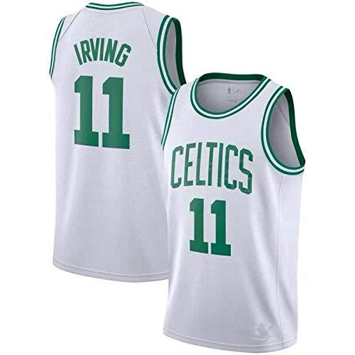 JIAORLEI Men's Basketball Jersey#Celtics Irving No. 11 Jersey Basketball Jersey City Edition XXL White